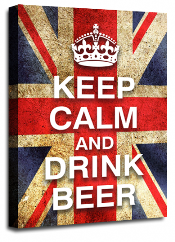 Keep Calm and Drink Beer British Flag Wall Art